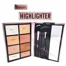 Profusion Highlighter Palette w/ 2 Brushes, 8 Shades to Highlight & Contour!