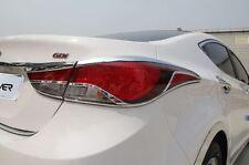 Chrome Rear Tail Light Cover Molding Trim for Hyundai Elantra 2014 - 2015