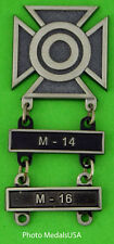 Army Sharpshooter Marksmanship Badge with M-14 & M-16 Qualification Bars