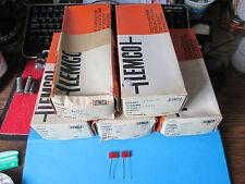VINTAGE LEMCO CAPACITORS. 200pF, 1700pF, 1900pF 2000pF, 2380pF. 350V. 2 PIECES.