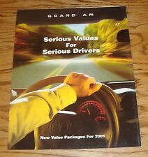 Original 2001 Pontiac Grand Am Foldout Sales Brochure 01 SE1 GT GT1