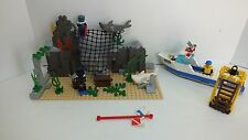 Lego Kit 6558 Town Divers Shark Cage Cove 1997 Incomplete (Q57)