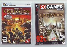 SID MEIER'S CIVILIZATION IV & BEYOND THE SWORD EXPANSION PACK - PC GAME COMPLETE