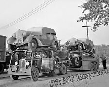 Photograph Vintage Commercial Car Carriers Transport Truck 1936 Detroit 8x10