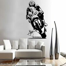 John McGuinness TT LEGEND wall art motorcycle racer decal graphic adhesive