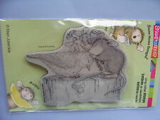 HOUSE MOUSE RUBBER STAMPS CLING BIRDIE KISS STAMP