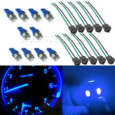 10x Blue T10 194 LED for Instrument Gauge Cluster Dash Light Bulb W/ Sockets