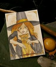 Sketchcard Kitty Ditties &Pretty Ladies Witch Amber Precious Sisters Amber Stone