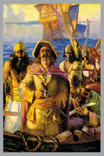 "Caribbean Pirates Boarding Party Giclee Canvas Print 12"" x 18"" New"