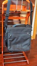 Tumi Alpha 3-in-1 ballistic nylon Backpack / Messenger Bag retail $495, BLACK