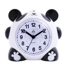 Cute Cartoon Panda Alarm Clock Night light silent for Kids Students
