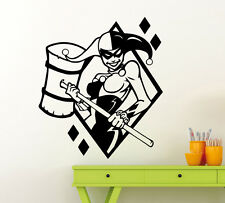 Harley Quinn Wall Decal Vinyl Sticker Comics Superheroes Art Decor Mural 172su