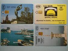4 Telefonkarten Griechenland aus 1993-95.