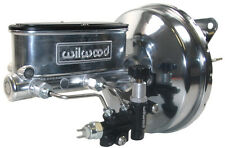 NEW POWER BRAKE BOOSTER & WILWOOD POLISHED MASTER CYLINDER & VALVE,67-70 MUSTANG