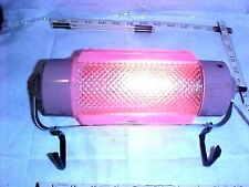 'Nice' Vintage Rare Mid Century Pink Glass Style Headboard Bed Light With Hooks