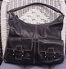 KATE SPADE designer black leather shoulder bag/tote/hobo/satchel