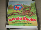 "80'S VINTAGE PLASTIC TOY ZOO FARM ANIMALS SNAKE PARTY SCARE 68"" MIB"