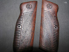 CZ 75 75B 85 85B Early-Style English Walnut REVERSECheckered Pistol Grips w/Logo
