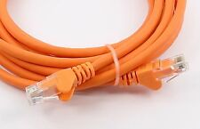 12cm RJ45 câble ethernet cat 6 fast gigabit patch réseau ordinateur portable pc tv orange