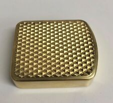 HARLEY SOLID BRASS BRAKE PEDAL PAD cover hd chopper bobber FXST FXWG FLHS FXDWG