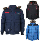NEW MENS RAWCRAFT ZIP UP LONG SLEEVE HOODED COAT WINTER PADDED JACKET SIZE S-XXL