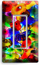 COLORFUL MURANO GLASS SINGLE GFI LIGHT SWITCH WALL PLATE COVER LIVING ROOM DECOR
