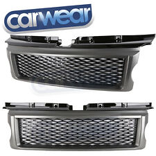 LAND ROVER RANGE ROVER SPORT L320 05-09 SUPERCHARGED LOOK MESH GRILLE GRAY/BLACK