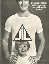 Publicité Advertising 1967  Lingerie JIL sous vetement slip tee shirt ...
