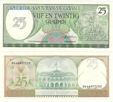 Suriname 25 Gulden 1985 P-127b NEW UNC Uncirculated Banknote - UK Seller