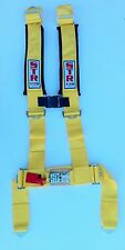 STR 4-Point Safety Belt Harness Street Kit Car Drift Track Day Road Use YELLOW