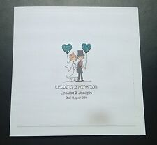Sample Handmade Personalised Wedding Day/Evening Invitations - 40+ Heart Colours