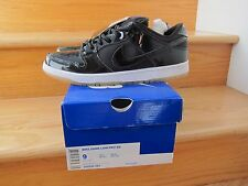2011 Nike Dunk Low Pro SB Space Jam Black Patent White size 9