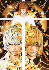 POSTER A4 PLASTIFIE-LAMINATED(1 FREE/1 GRATUIT)*MANGA DEATH NOTE.MELLO NEAR KIRA