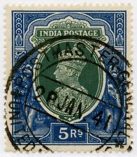 INDIA 1941 POSTMASTER GENERAL UNITED PROVINCES CANCEL on KG6th 5R...L3