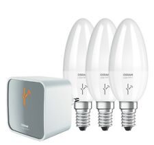 Osram LIGHTIFY Work & Relax KIT: 1 x Gateway + 3 x B40 E14 Kerzenfrom