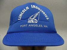LINCOLN INDUSTRIES - PORT ANGELES, WA - POLY FOAM SNAPBACK BALL CAP HAT!