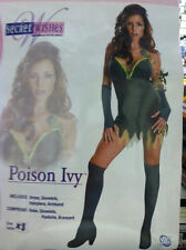 POISON IVY SECRET WISHES ADULT COSTUME SIZE EXTRA SMALL(2-6)BATGIRL HARLEY QUINN