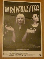 The Raveonettes Glasgow 2009 tour concert gig poster