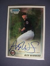 ALEX WIMMERS 2011 Bowman Chrome Draft AUTO #BDPP88 Twins RC