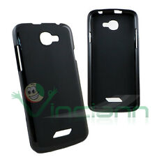 Pellicola+Custodia cover TPU Flexy nera per NGM Forward Escape case flessibile