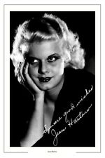 JEAN HARLOW AUTOGRAPH SIGNED PHOTO PRINT POSTER