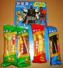 STAR WARS PEZ CANDY SET 4 PZ. + THIN CARDBOARD 1997
