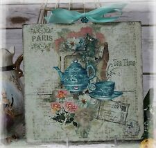 "Vintage ""TEA TIME...""~Shabby Chic~Country Cottage style~Wall Decor Sign"