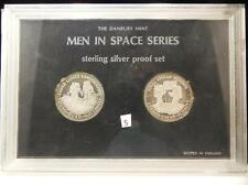 Danbury Mint Men in Space Series Sterling Silver 2 Coin Proof Set 1972 Lot 5