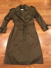 JOHN WEITZ WOMENS TRENCH COAT DOUBLE BREASTED COTTON BLEND Rain Jacket Size 2