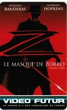 N° 75  VIDEO FUTUR - CARTE  COLLECTOR -  LE MASQUE DE ZORRO   -  ETAT LUXE