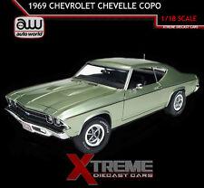 AUTOWORLD AMM1054 1:18 1969 CHEVROLET CHEVELLE COPO FROST GREEN