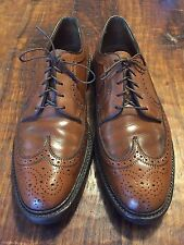 VTG FLORSHEIM Men's Imperial Brown Longwing Bluchers Size 11 Made USA