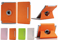 360 Degree Rotating Swirel Magnetic Stand Case For iPad Mini Orange Green Pink