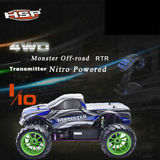 HSP Rc Car 1/10 2.4Ghz Nitro Gas Fuel Power 4wd Off Road Monster Truck 94108#ACM